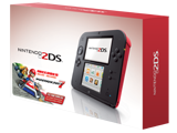 Nintendo 2DS - Crimson Red + Mario Kart 7 - Package