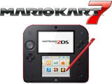 Crimson Red Nintendo 2DS + Mario Kart 7 - REFURBISHED