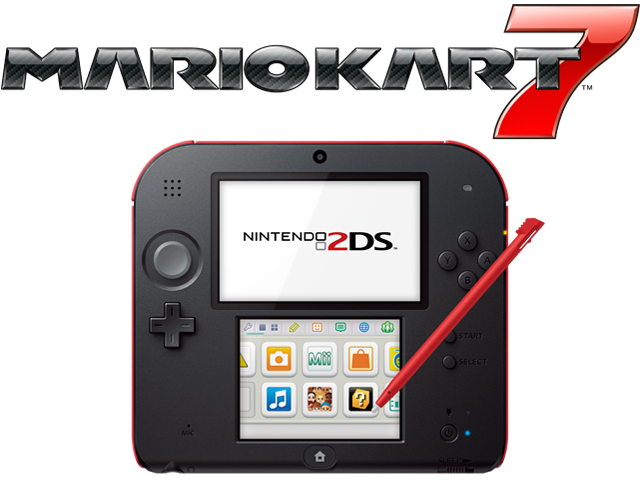 Nintendo 2DS - Crimson Red + Mario Kart 7 - Refurbished