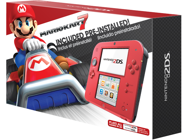 Nintendo 2DS - Crimson Red 2 + Mario Kart 7