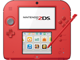 Nintendo 2DS - Crimson Red 2 - Screen - Stylus
