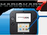 Nintendo 2DS - Electric Blue + Mario Kart 7 - Refurbished