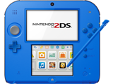 Nintendo 2DS - Electric Blue 2 - Screen - Stylus