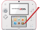 Nintendo 2DS - Scarlet Red - Front + Stylus