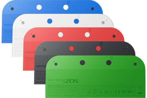 Battery Cover Kit - Nintendo 2DS - 5 Colors