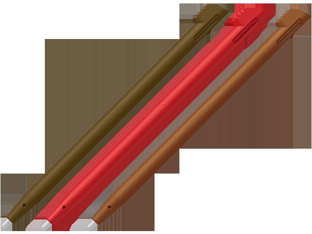 Stylus - Nintendo 2DS - Multicolor - Brown + Red + Super Mario Maker