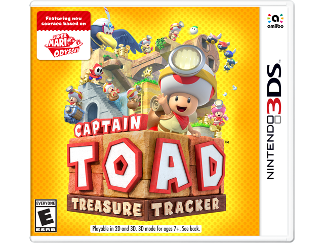 Captain Toad: Treasure Tracker (3DS) Box Art