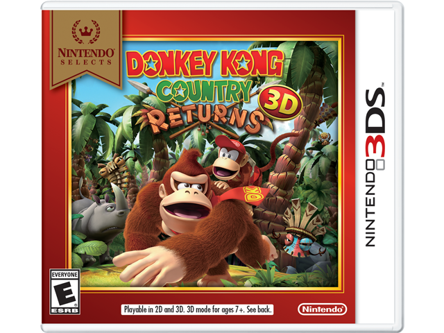 Donkey Kong Country Returns 3D - Nintendo Selects Box Art