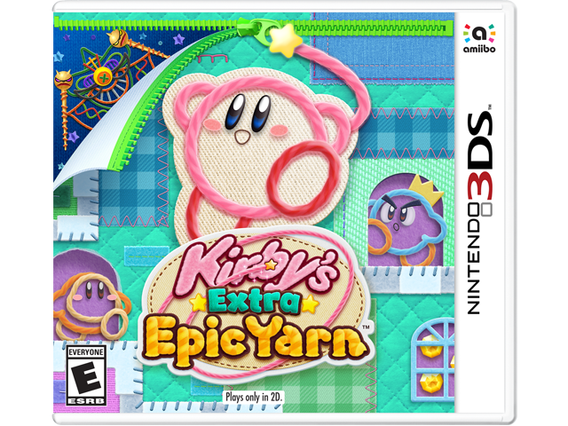 Kirby's Extra Epic Yarn Box Art