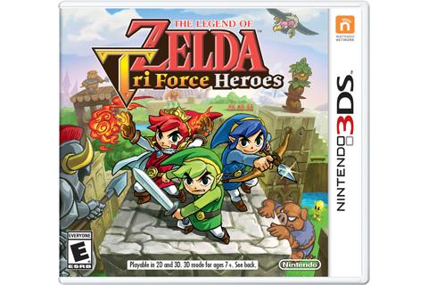 The Legend of Zelda: Tri Force Heroes Box Art