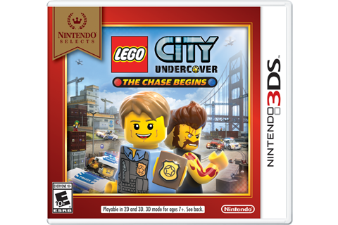 Lego City Undercover: The Chase Begins - Nintendo Selects Box Art