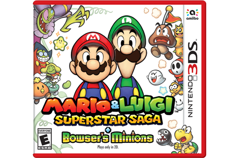 Mario & Luigi: Superstar Saga + Bowser's Minions Box Art