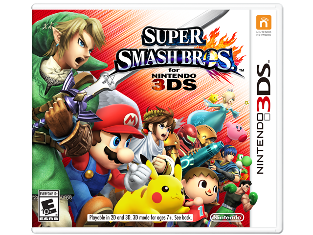 Super Smash Bros. for 3DS Box Art
