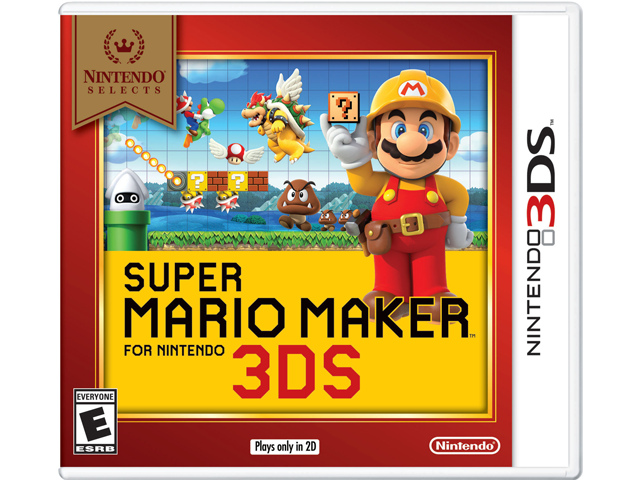 Super Mario Maker for Nintendo 3DS - Nintendo Selects Box Art
