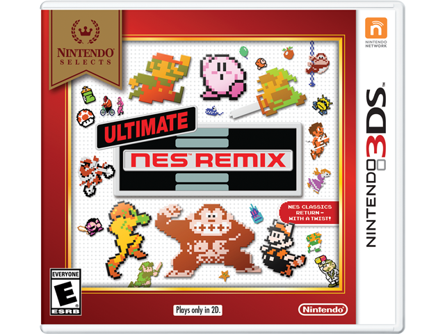 Ultimate NES Remix (3DS) - Nintendo Selects Box Art
