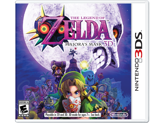 The Legend of Zelda: Majora's Mask 3D Box Art