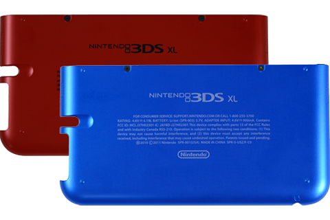 Battery Cover Kit - Nintendo 3DS XL - Blue + Red