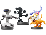 amiibo - R.O.B. - NES Colors + Mr. Game & Watch + Duck Hunt - Smash V1