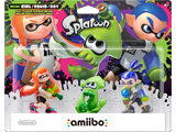 amiibo - Inkling Squid + Boy + Girl - Splatoon V1 - Package