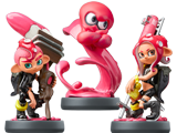amiibo - Octoling Squid + Boy + Girl - Splatoon V3