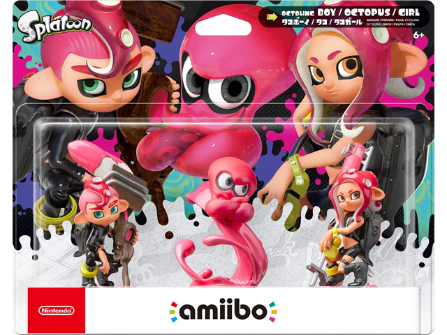 amiibo - Octoling Boy + Girl + Octopus - Splatoon - Box Art - V1