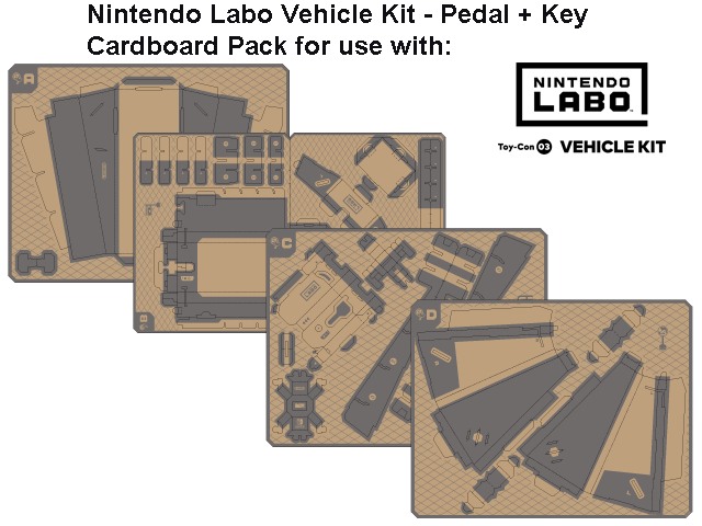 LABO - Toy-Con 03 - Vehicle - Pedal + Key - All
