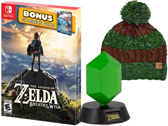 PTO - Zelda BOTW SP + Zelda Beanie + Rupee Light