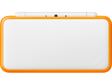 New Nintendo 2DS XL - White + Orange - Closed
