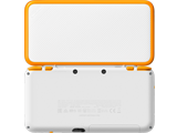 New Nintendo 2DS XL - White + Orange - Open - Back
