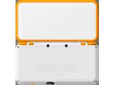 New Nintendo 2DS XL - White + Orange - Open - Back