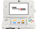New Nintendo 3DS - White - Open - Screen On - Stylus