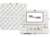 New Nintendo 3DS - White - Open - Screen On - Stylus - NSB Cover Plates