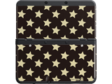 Cover Plate 29 - New Nintendo 3DS - Black with Gold Stars - Black