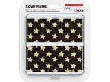 Cover Plate 29 - New Nintendo 3DS - Black with Gold Stars - Package