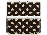 Cover Plate 29 - New Nintendo 3DS - Black with Gold Stars - White