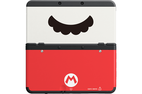 Cover Plate 47 - New Nintendo 3DS - Mario Mustache - Black