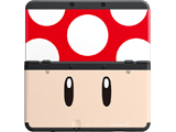 Cover Plate 19 - New Nintendo 3DS - Red Mushroom - Black