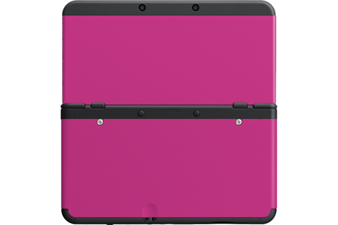 Cover Plate 32 - New Nintendo 3DS - Pink - Black