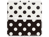 Cover Plate 07 - New Nintendo 3DS - Black & White Polka Dot - White