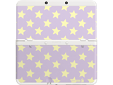 Cover Plate 28 - New Nintendo 3DS - Purple with Yellow Stars - White