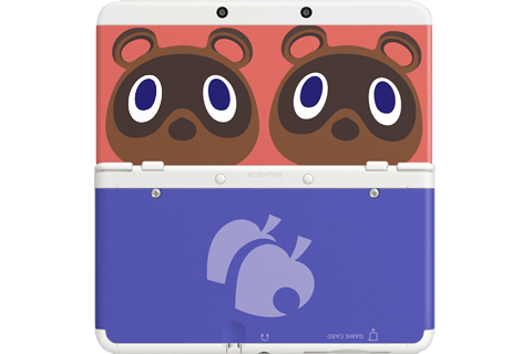 Cover Plate 14 - New Nintendo 3DS - Timmy & Tommy Nook - White