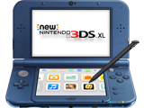 New Nintendo 3DS XL - New Galaxy - Open - Angle - Screen On - Stylus