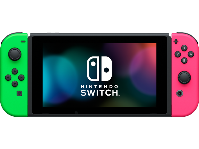 Nintendo Switch Console - Neon Green L + Neon Pink R