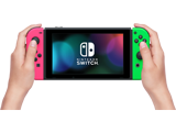 Nintendo Switch Console - Neon Pink L + Neon Green R + Screen + Lifestyle