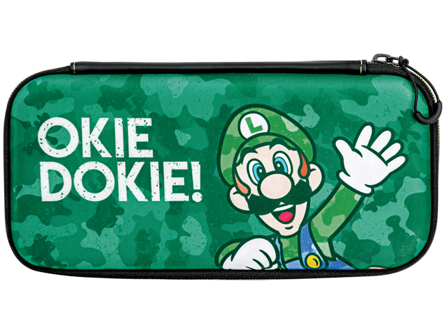 PDP - Switch - Slim Travel Case - Luigi Camo Edition - Front