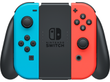 Joy-Con - Grip - Nintendo Switch - Neon Blue L + Neon Red R - Loaded - Front
