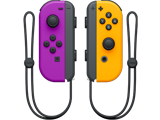 Joy-Con - Nintendo Switch - Neon Purple L + Neon Orange R - Straps