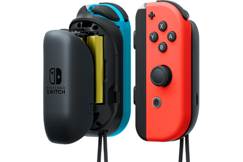 Joy-Con AA Battery Pack - Nintendo Switch - Neon Blue L + Neon Red R