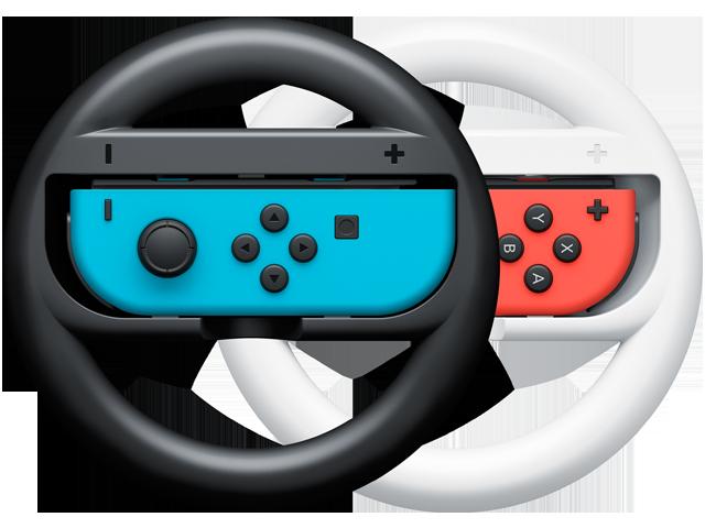 Wheels - Joy-Con - Nintendo Switch - Neon Blue L + Neon Red R - Black + White
