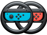 Wheels - Joy-Con - Nintendo Switch - Neon Blue L + Neon Red R - Black - Merge